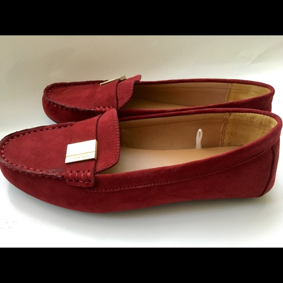 Calvin Klein Suede Loafers Shoes Slip
